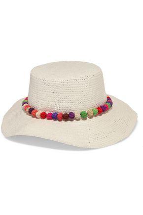 SENSI STUDIO Pompom-embellished toquilla straw Panama hat