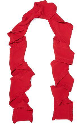 MAGDA BUTRYM Port Marbella ruffled silk-crepe scarf