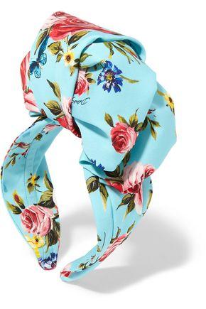 DOLCE & GABBANA Floral-print silk-satin headband