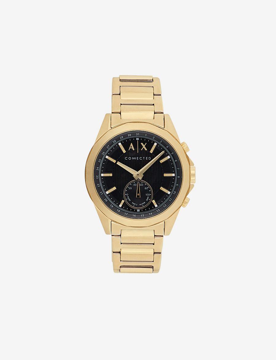 3192cdf4e9c ARMANI EXCHANGE GOLD-TONED HYBRID BRACELET WATCH Hybrid Watch E f