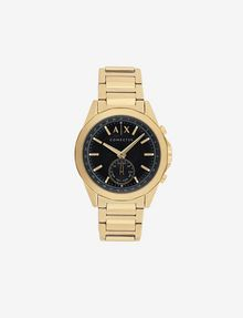 ARMANI EXCHANGE GOLD-TONED HYBRID BRACELET WATCH Uhr E f