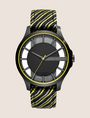 ARMANI EXCHANGE STRIPED KNIT STRAP WATCH Uhr Herren f