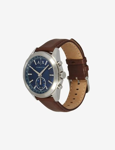 HYBRID BROWN LEATHER BAND WATCH