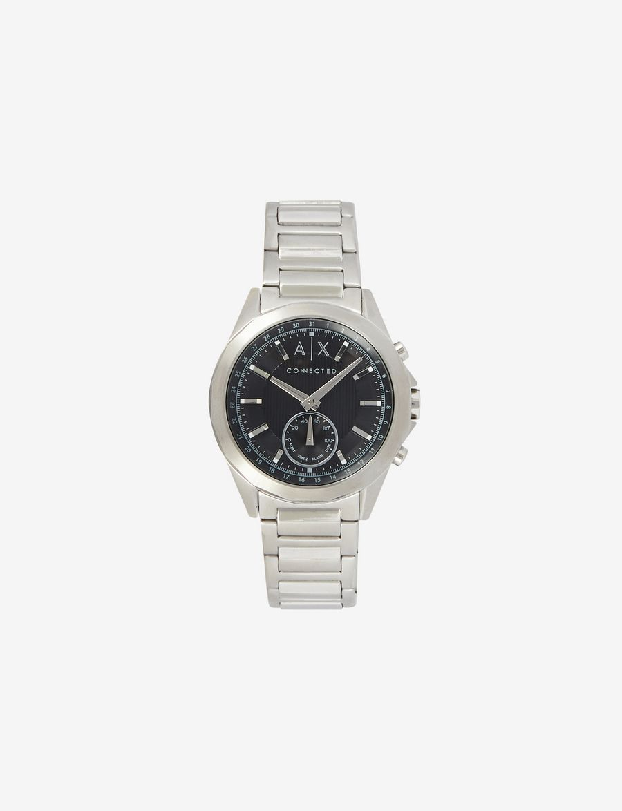 Armani Exchange Connected Mens Watches A X Store Fossil Jam Set Silver Hybrid Bracelet Watch E F