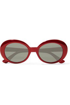 SAINT LAURENT SL 98 California round-frame acetate sunglasses