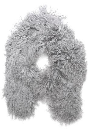 CHARLOTTE.SIMONE Shaggy shearling scarf