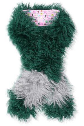 CHARLOTTE.SIMONE Pocket Monster shearling scarf