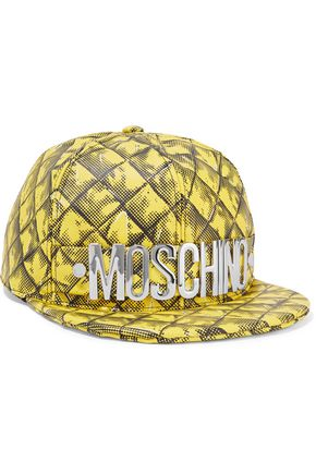 MOSCHINO Printed leather baseball cap