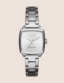 ARMANI EXCHANGE SQUARE SILVER-TONE BRACELET WATCH Watch Woman f