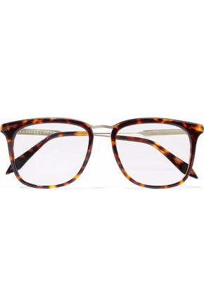 VICTORIA BECKHAM Square-frame tortoiseshell acetate and gold-tone optical glasses
