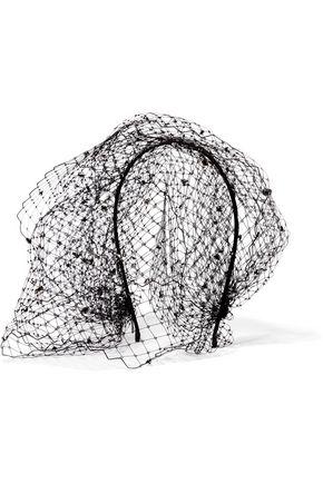 JENNIFER BEHR Beehive Swarovski crystal-embellished veiled headband