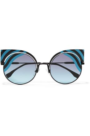 FENDI Cat-eye metal sunglasses