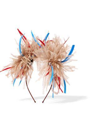 EUGENIA KIM Mariko feather-embellished headpiece