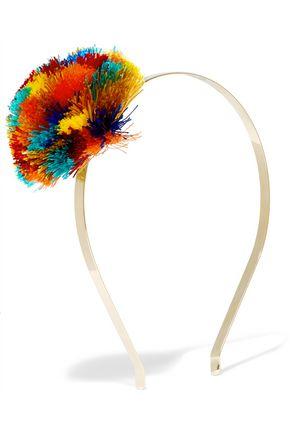 ROSANTICA Guatemala gold-tone pompom headband