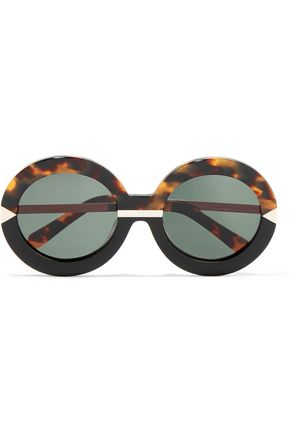 KAREN WALKER Hollywood Pool round-frame acetate glasses