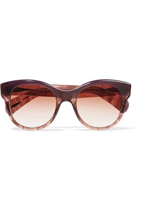 WOMAN JACEY D-FRAME ACETATE SUNGLASSES PLUM
