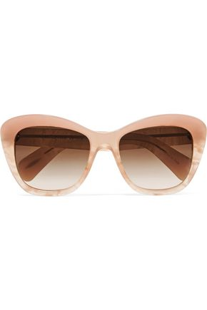 WOMAN EMMY D-FRAME ACETATE SUNGLASSES PEACH