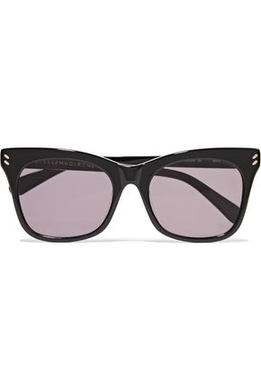 WOMAN CAT-EYE ACETATE SUNGLASSES BLACK