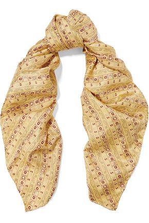ISABEL MARANT Printed silk-satin twill scarf