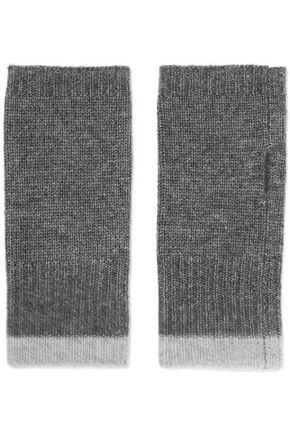 DUFFY Ribbed wool and cashmere-blend fingerless gloves