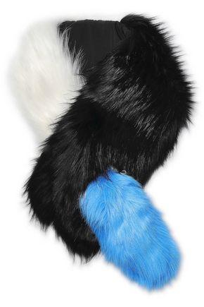 CHARLOTTE.SIMONE Popsicle striped faux fur scarf
