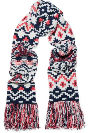 MAJE Jacqaurd wool-blend scarf