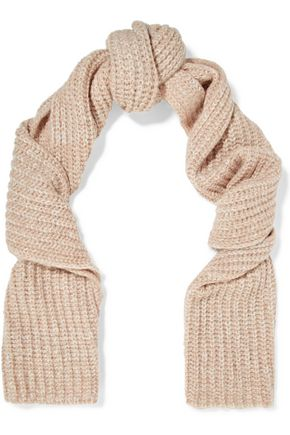 MAJE Magalie marled knitted scarf