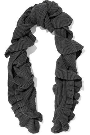 STELLA McCARTNEY Ruffled ribbed wool scarf