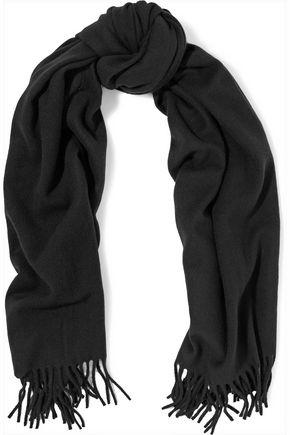 KENZO Fringed wool scarf