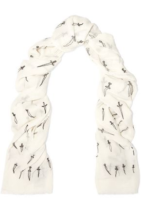 RAG & BONE Embroidered cotton scarf