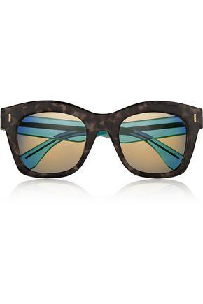 FENDI D-frame acetate mirrored sunglasses