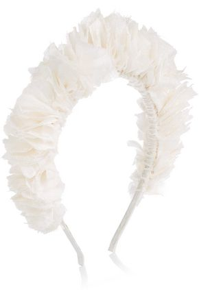 YUNOTME Flock silk-jacquard headband