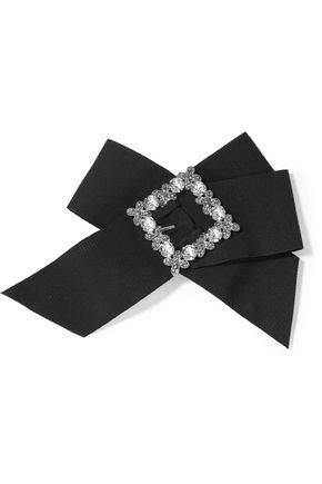 DOLCE & GABBANA Swarovski crystal-embellished grosgrain hair clip