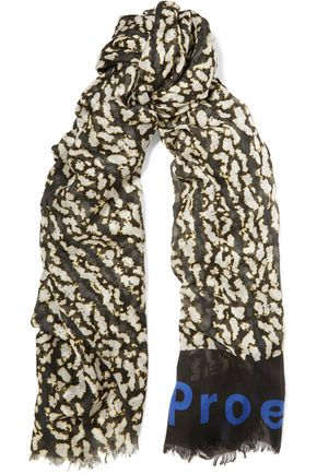 PROENZA SCHOULER Printed modal and silk-blend scarf