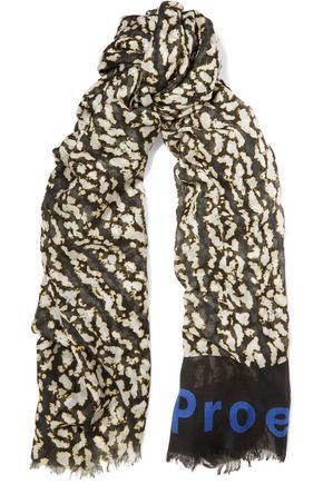 PROENZA SCHOULER Printed modal and silk-blend scarf