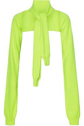MM6 MAISON MARGIELA Neon tie-front cropped wool sweater