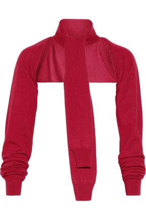 MM6 MAISON MARGIELA Neon tie-front cropped wool sweater