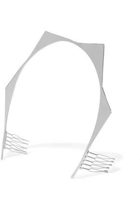 LELET NY Geo Halo silver-plated headband