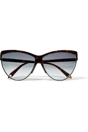 VICTORIA BECKHAM Cat-eye tortoiseshell acetate sunglasses