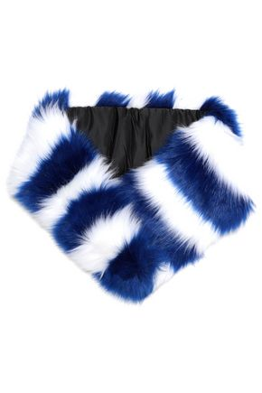 CHARLOTTE.SIMONE Striped faux fur scarf