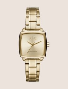 ARMANI EXCHANGE SQUARE GOLD-TONED BRACELET WATCH Uhr Damen f