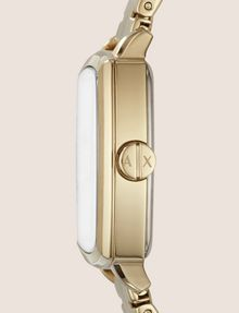 ARMANI EXCHANGE SQUARE GOLD-TONED BRACELET WATCH Uhr Damen r