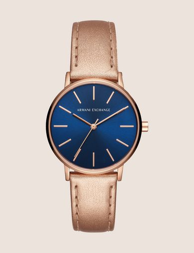 ROSE GOLD-TONED METALLIC STRAP WATCH