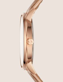 ARMANI EXCHANGE ROSE GOLD-TONED METALLIC STRAP WATCH Fashion Watch [*** pickupInStoreShipping_info ***] r