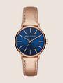 ARMANI EXCHANGE ROSE GOLD-TONED METALLIC STRAP WATCH Uhr Damen f