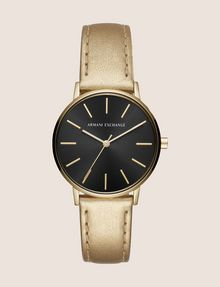 ARMANI EXCHANGE GOLD-TONED METALLIC STRAP WATCH Watch Woman f