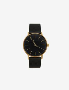 ARMANI EXCHANGE GOLD-TONED BLACK MESH BAND WATCH Fashion Watch [*** pickupInStoreShipping_info ***] f