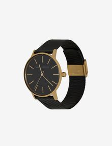 ARMANI EXCHANGE GOLD-TONED BLACK MESH BAND WATCH Watch Woman r