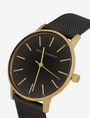 ARMANI EXCHANGE GOLD-TONED BLACK MESH BAND WATCH Fashion Watch [*** pickupInStoreShipping_info ***] a