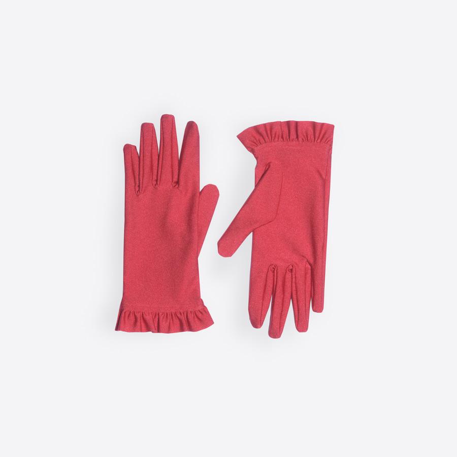 BALENCIAGA Ruffles Gloves Gloves Woman f